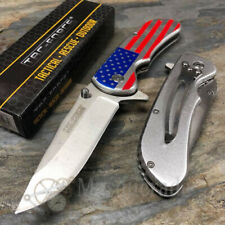 Tac Force Collectors USA Flag Handle Outdoors Spring Assisted Pocket Knife