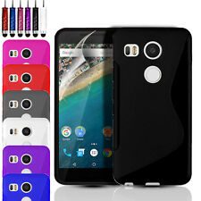 ULTRA THIN SILICONE GEL CASE COVER POUCH & SCREEN PROTECTOR FOR LG NEXUS 5X