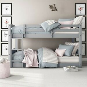 Better Homes & Gardens Tristan Twin-Over-Twin Bunk Bed, Gray