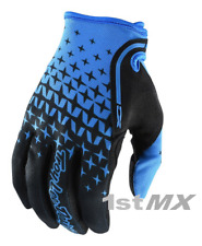 Troy Lee Designs TLD XC Megaburst Azul Mx Motocross Guantes Carrera Adultos Medio