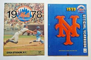 Set of 2 New York Mets Official Year Books: 1978 & 1979