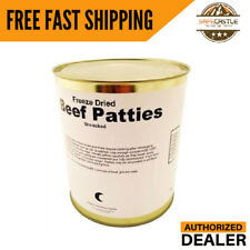 Military Food Surplus - Freeze Dried Hamburger, Ground Beef Patties, 1 Can