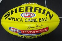 Richmond - Francis Bourke signed Yellow  sherrin football -Sherrin