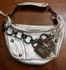Juicy Couture Leather Mini Hobo Handbag, chain detail & scottie dog charm