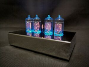 'Naboo' Contemporary Stainless Steel Nixie tube Clock from Bad Dog Designs
