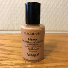 Elizabeth Arden Intervene Makeup SPF 15 Soft Beige 07 Ocinoxate Lotion 1 oz A17