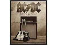OFFICIAL LICENSED - AC/DC - IN ROCK WE TRUST WOVEN SEW-ON PATCH ROCK