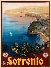Sorrento Italy Italian Coast Naples Europe Vintage Travel Advertisement Poster
