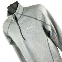 Simms Fishing Mens Size Medium 1/4 Zip Gray Polyester Long Sleeve Shirt Pullover