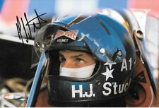 Hans Stuck SIGNED F1 March-Cosworth , Helmet Portrait 1975