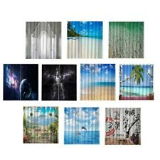 Landscape 3D Curtains Window Decor Curtain Drapes for Living Room Waterpoof