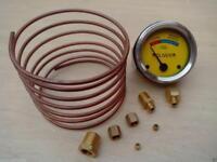 Oliver Tractor Oil Pressure Gauge  Copper Line Kit - 6 ' 1/8'' line
