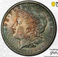 1885-O MORGAN SILVER DOLLAR PCGS MS64 COLOR UNC GORGEOUS TONED GEM BU (DR)