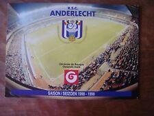 Feuillet publicitaire pour abonnements RSC Anderlecht 1998-1999 (Générale Banque