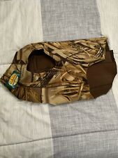 Cabelas Camo Hunting dog vest Size Lg NeopreneMossy oak camo outdoor wetsuit