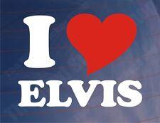 I LOVE/HEART ELVIS Novelty Car/Van/Window/Bumper Vinyl Sticker/Decal