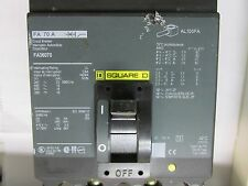 * Square D 70 Amp 3 Pole Circuit Breaker Type Fa~ Fa36070 B-20A