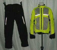 Rev'it Mens Motorcycle Suit Jacket & Pants Green & Black Size M Protective Pads