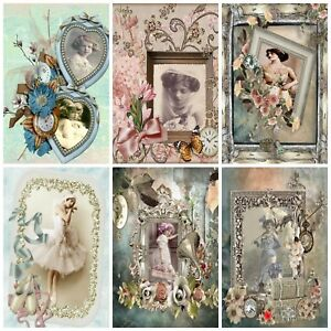 MOMENTS IN TIME VINTAGE Embellishments, Card Making Toppers, Card Toppers (12)