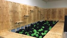 "Foam Pit Cubes 2200 Pieces. (Green/black ) 8""x8""x8"" Foam Blocks"