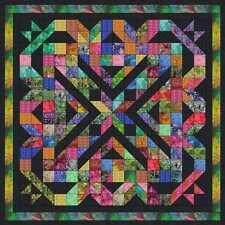 Easy Quilt Kit/Outer Limits Batik/Tye Dye/Pre-cut Fabrics Ready2Sew****