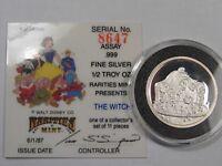 Disney WITCH ½ Troy oz .999 Fine Silver Round (w/ COA).  #7