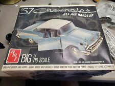 Vintage Amt T841 Big 1/16 Scale '57 Chevrolet Bel Air Hardtop