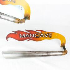 Biker Garage Flammen Mancave Towel Rack Auspuff Handtuchhalter Handtuch Halter