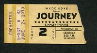 1979 Journey Graham Parker Concert Ticket Stub Pittsburgh Evolution