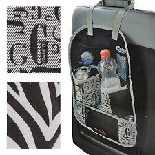 Universal Car Back Seat Travel Organiser Folding Multi Pockets Food Drink Holder