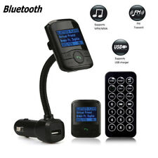 LCD Car Kit MP3 Bluetooth Player FM Transmitter Modulator SD MMC USB Remote USA