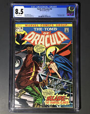 Tomb Of Dracula 10 CGC 8.5 OW Pages 🦇1st Blade🦇 Case Signed By Marv Wolfman