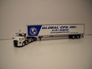 DCP FIRST GEAR 1/64 GLOBAL CFS LOGOED MACK ATHEM WITH 53' WABASH DRY VAN