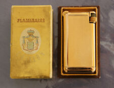 """FLAMINAIRE QUERCIA CRILLON"" Pocket Gas Lighter - GOLD 10 microns - FRANCE 1948"