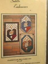 Stained Glass Holy Family Quilt/Sewing Pattern-Subtle Endeavors