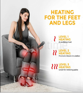 Electric-Air Compression Leg-Foot-Thigh Massager-Pain Relief+Circulation+Heat