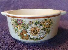 Lenox Temper-Ware MAGIC GARDEN Round Open Casserole Vintage Floral Speckled