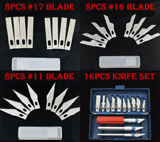 16PCS Hobby Razor Knife Set with Case + 24PCS Blades