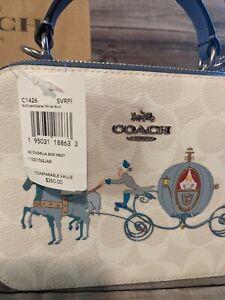 Disney X Coach Cinderella Crossbody Box Bag Purse Top Handle SOLD OUT C1426 NWT
