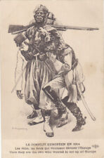 Guerre 14-18 caricature satirique  anti kaiser REGAMEY SENEGALAIS