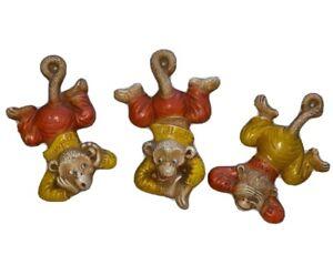 Vintage 1948 MPI Heerzall, Seezall, & Tellzall Monkeys Resin Wall Hangings
