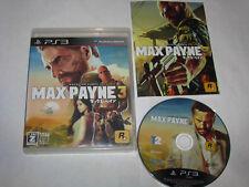 Max Payne 3 Playstation 3 PS3 Japan import US Seller