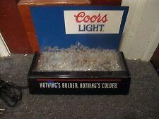 Coors Light Lighted Beer Bottle Display Sign