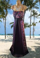 MONSOON STUNNING  SANTANA FLORAL 100% SILK  MAXI EVENING/CRUISE  DRESS SIZE 18