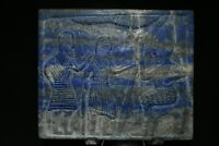 Lovely Authentic Lapis Lazuli Sasanian Stone Tile Tablet with Multiple Engraving