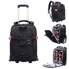 DSLR Trolley Case Backpack Professional Camera Bag Draw-Bar Box for Canon Nikon