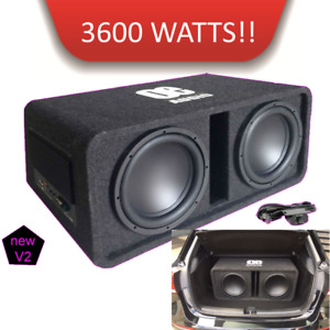 """OE-212BX  Twin 12"""" Amplified Subwoofer active box 3600 watts For MERCEDES A180d"""