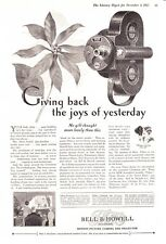 "1927 Bell & Howell Filmo Motion Picture Camera ""Joys of Yesterday"" print ad"