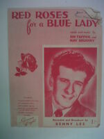 song sheet RED ROSES for a BLUE LADY Benny Lee 1948