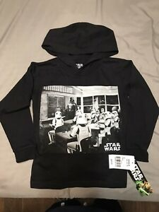 Star Wars Storm Trooper Boys Hoodie Sweat Shirt Size 4